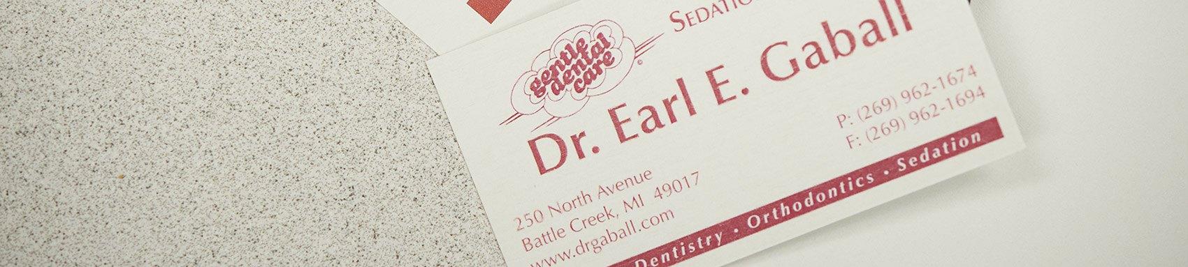 Contact Us - Earl E Gaball DDS